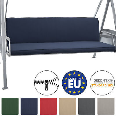 2 Set Bench Cushions Canopy Swing Seat Pads For 3 Seater Foam Pannel Dark Blue