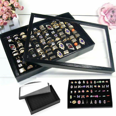 100 Rings Jewelry Display Storage Paper Box Show Case Organiser Earring Holder