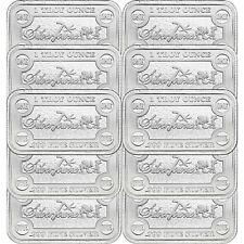 SilverTowne Money Bars 1oz .999 Silver Bar 10pc
