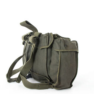 Belgian-Army-Canvas-Para-Bag-Rucksack-Mountain-Hiking-Pack-Daysack-Surplus