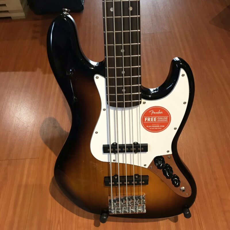 Fender Squier Affinity V Brown Sunburst 5 String Jazz Bass Guitar