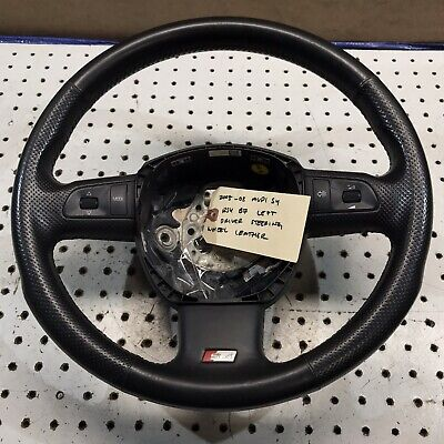 2005-08 AUDI S4 RS4 B7 LEFT DRIVER STEERING WHEEL LEATHER OEM 8E0419091 BLACK BC
