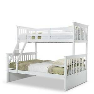 MEL Emma White Single on Double Solid Timber Bunk Bed Melbourne CBD Melbourne City Preview