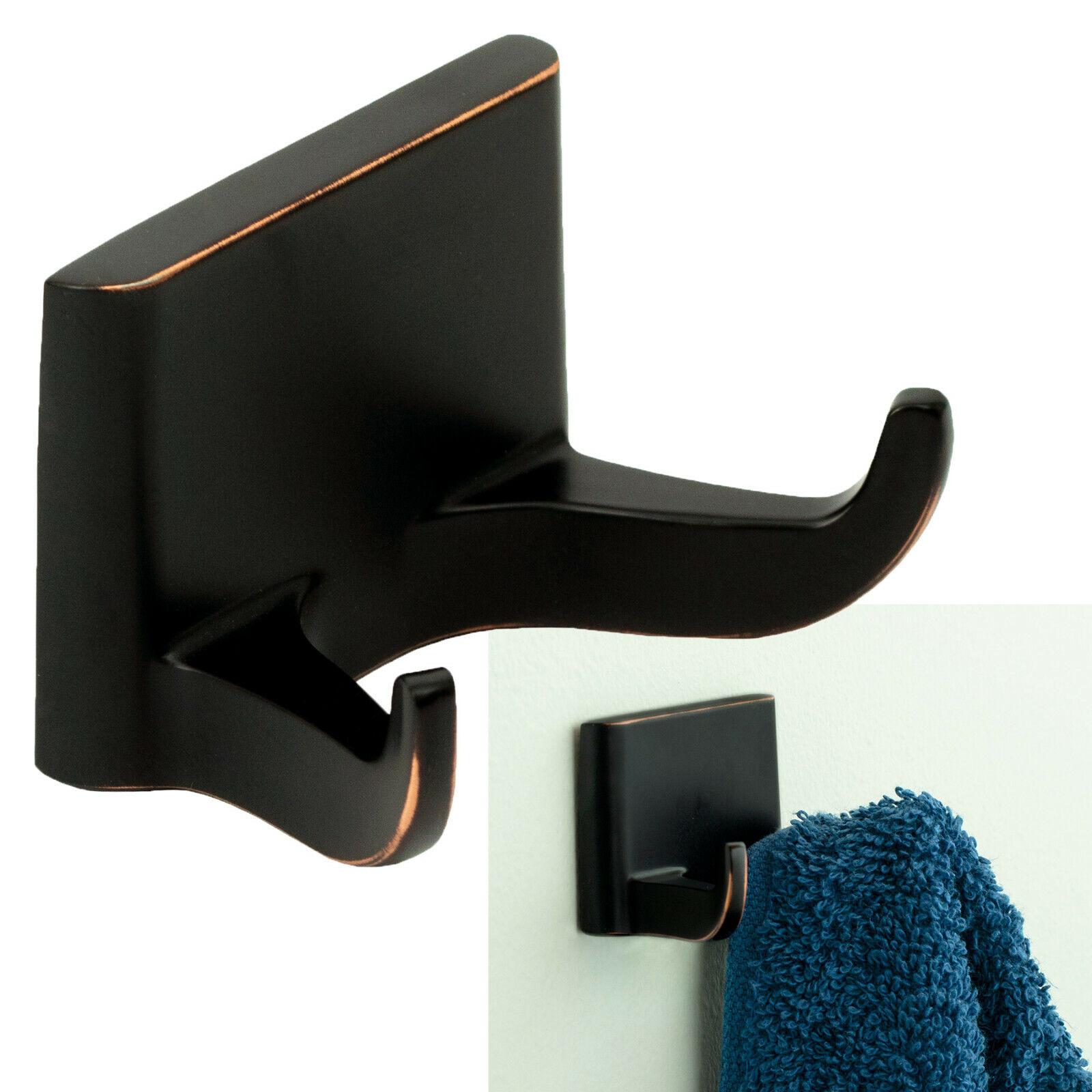 Redwood Double Robe Hook Bath Hardware Bathroom Accessory, Oil Rubbed Bronze Bath