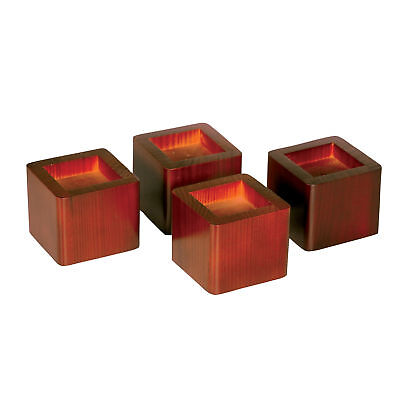 Wood Mahogany Square Bed Risers