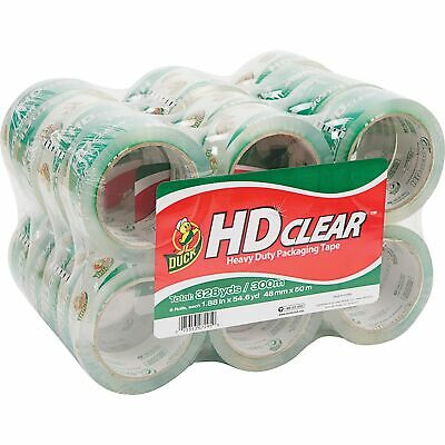 Duck Hd Clear Packaging Tape 1.88 In. X 54.6 Yd. Clear 24-count New