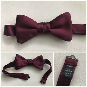 Burgundy Bow Tie And Pocket Square