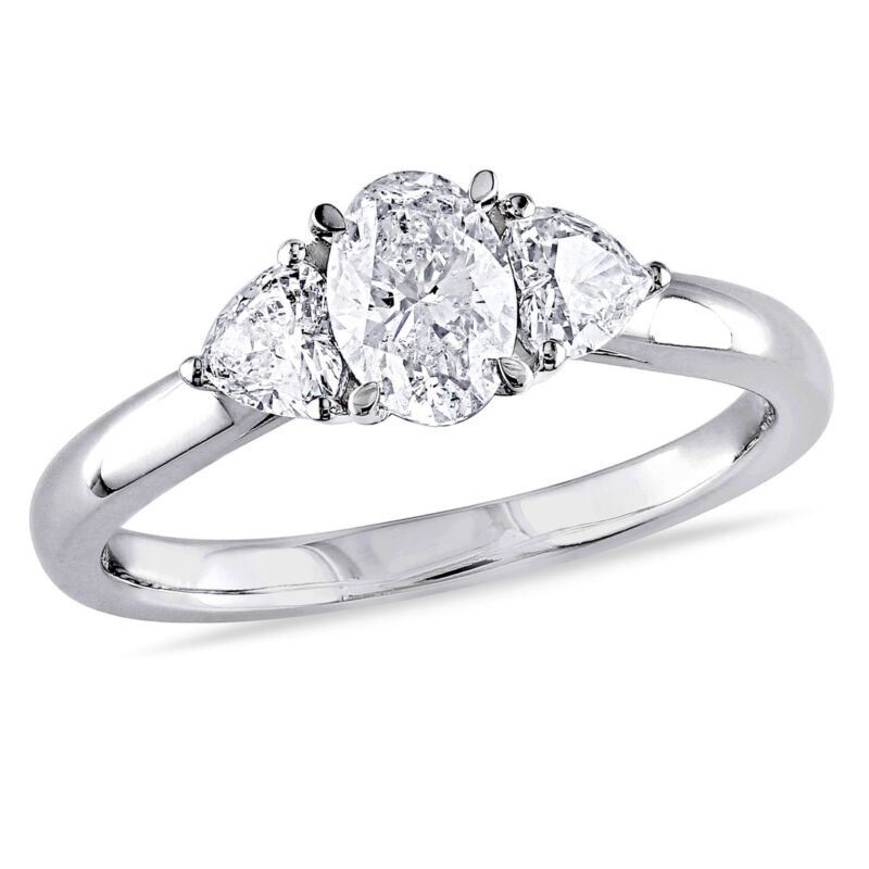 Amour 7/8 Ct Tw Shaped Diamond Engagement Ring In 14k White Gold