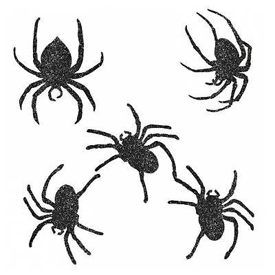 Spinne Halloween (Halloween Glitzer Spinne Form Karton Verschiedenen Größen)