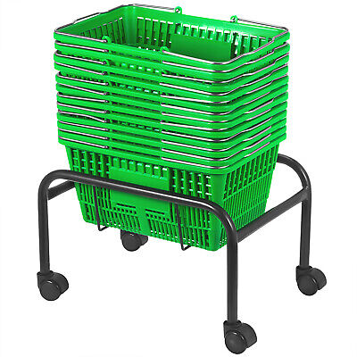 Green Plastic Shopping Basket Pack Of 12 Durable Shopping Baskets Plastic