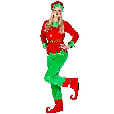 Halloween Kostume (Frauenkostüm Weihnachtselfe Kostüm Karneval Fasching Halloween Wichtel Damen)