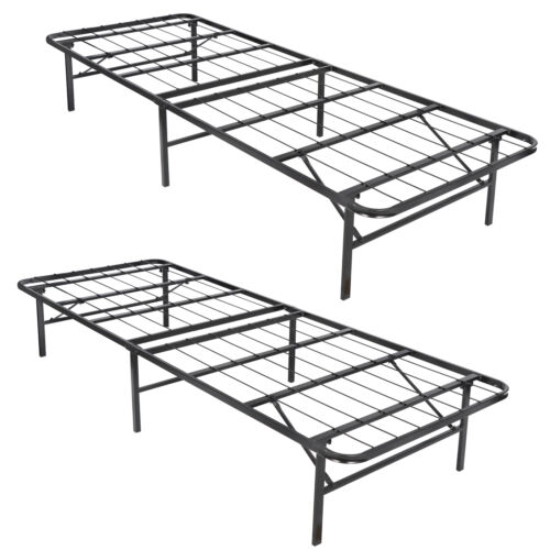 """14"""" Bed Frame Heavy Duty Folding Foundation Queen Size with Tool Free Assembly Beds & Bed Frames"""