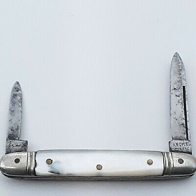 ARGYLE CUTLERY KNIFE MADE IN GERMANY EARLY 1900S PEARL MOP OLD VINTAGE POCKET