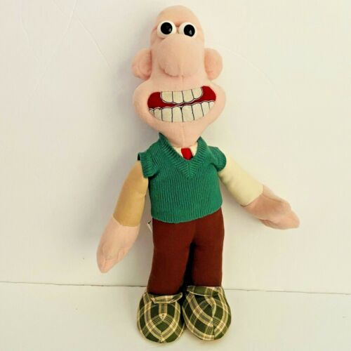 Vintage 1989 Wallace & Gromit Toy Plush Wallace Doll 14.5 Inch