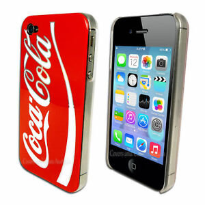 Coca Cola Red Hard Back Cover for Apple iPhone 4S 4 Plastic Coke Case Skin
