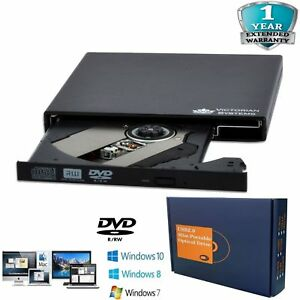 External USB 2.0 DVD RW CD RW Drive DVD Rewriter Burner writer player Laptop PC