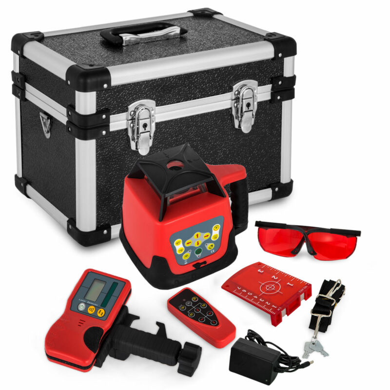 Rotary/ Rotating Red Laser Level Kit With Case 360° Self-leveling 500M Range