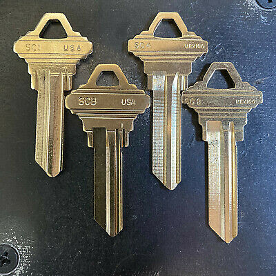 Schlage Keys -variety Of Keyways- Cut By Key Code - Bulk Pricing