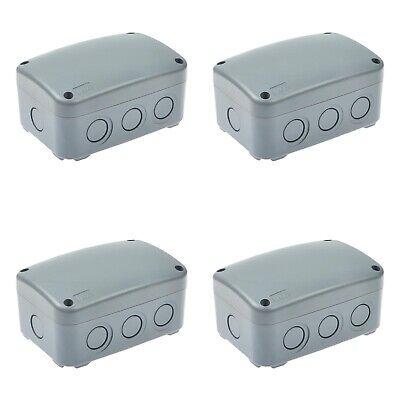 4pk Ip66 Waterproof Weatherproof Junction Box Plastic Electric Enclosure Case