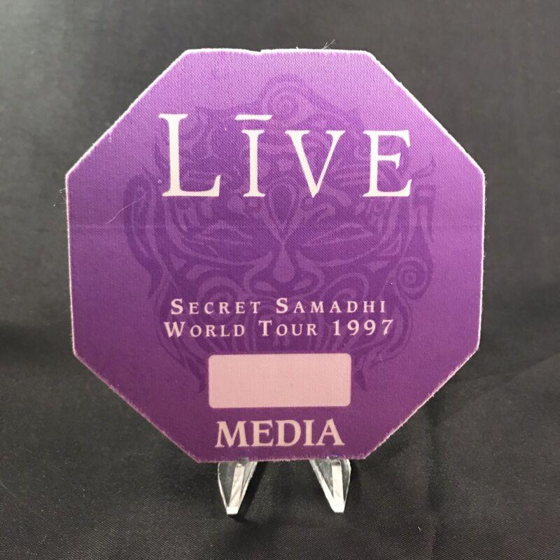 Live Secret Samadhi World Tour Concert Media Backstage Pass Otto Vintage 1997