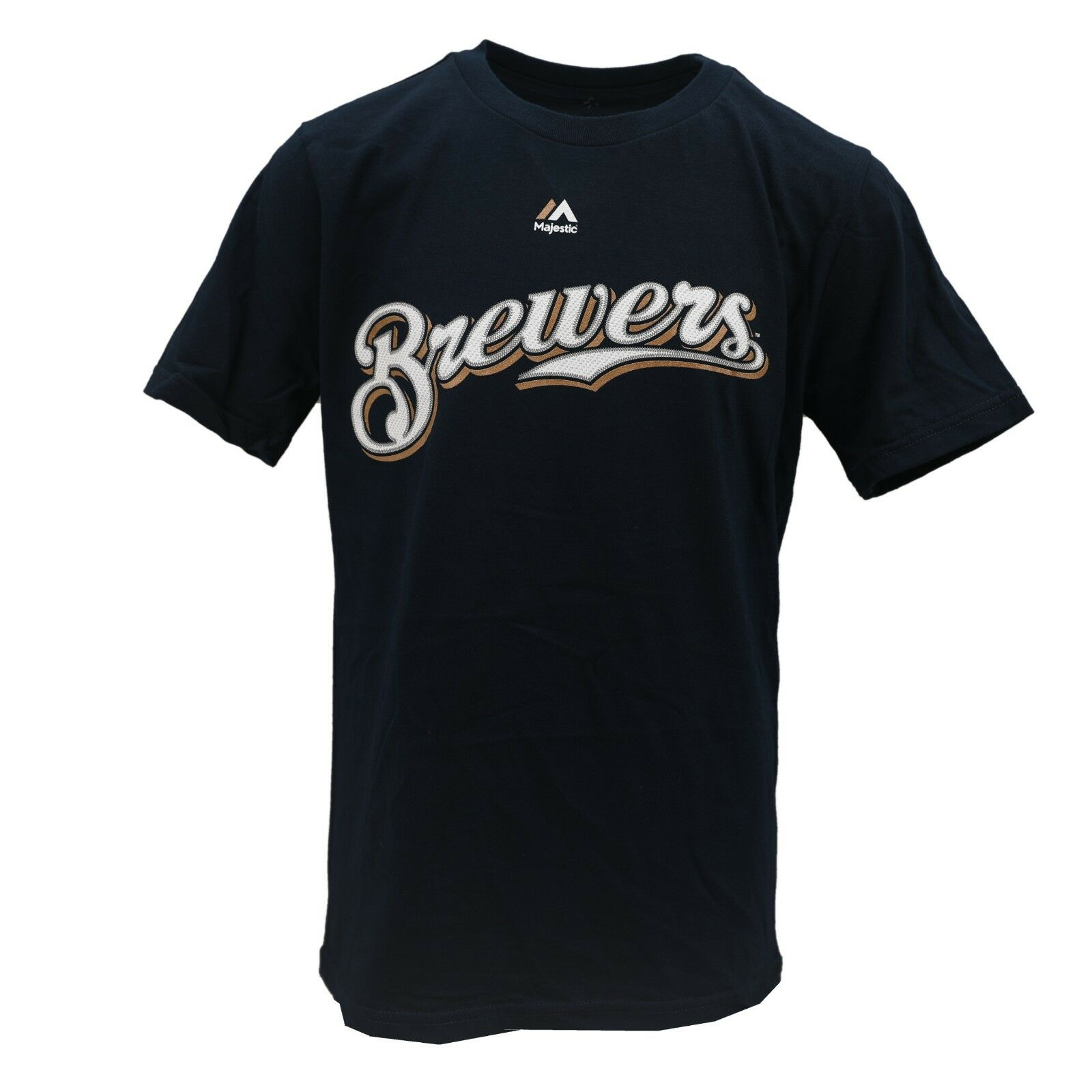 release date 523d1 9256f Details about Milwaukee Brewers MLB Majestic Kids Youth Size Eric Thames  T-Shirt New with Tags