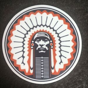 Fighting Illini Chief Illiniwek Vinyl Sticker 3
