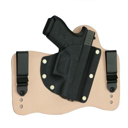 FoxX Leather & Kydex IWB Hybrid Holster NEW Glock 43 9mm Natural Right Tuckable