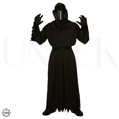 Adult Grim Reaper Halloween Costume +Mirror Mask Dementor Demogorgon Fancy Dress](Mirror Mask Halloween Costume)
