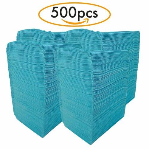 Dental Bib & Tattoo Bibs Blue Polyback Towel Disposable Waterproof 125/500 pcs
