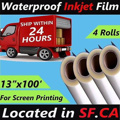 13 X 1004 Rollswaterproof Inkjet Silk Screen Printing Transparency Film