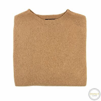 Howlin' Brown Wool Scotland Raglan Slv Ribbed Knit Piped Crew Neck Sweater M