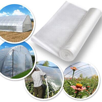 10/ 12x25ft Greenhouse Clear Plastic Film 6mil Transparent Polyethylene Covering 6 Mil Polyethylene Film