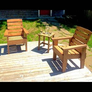 Rustic Patio/lawn Chair Set