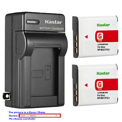 Cyber Shot Camera Camcorders (Kastar Battery Wall Charger for Sony NP-BG1 NPFG1 Sony Cyber-shot DSC-H90 Camera )