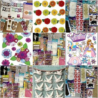 Huge Lot Of 40 Packages Scrap Booking Stickers Ek Success Sticko Momenta Jolees