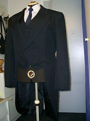 Herrenfrack in schwarz mit  Weste Gr.54