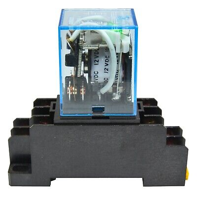 Lot Of 2 Omron Ly2n-j 12v Dc Coil 10a Cube Relay With Socket Base Ptf08a