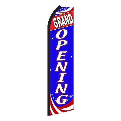 Grand Opening Red White Blue Swooper Flag