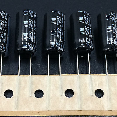 5pcs Suncon Sanyo Hc 10x20 2200uf 10v2200uf Standard Electrolytic Capacitor