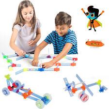 Brackitz STEM Hero Building Set: Education Learning Fun Engineering Blocks 90pc