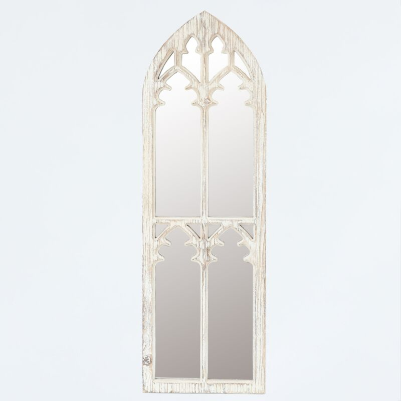 """Winsome House Wood Cathedral Framed Wall Mirror - 38""""  MSRP $79.99"""