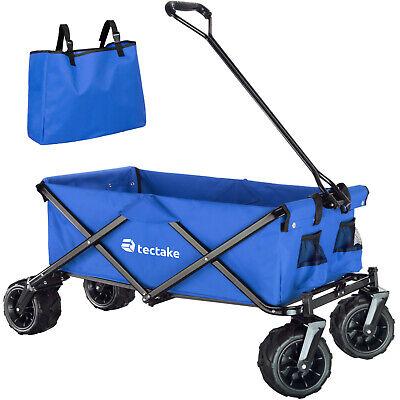 Carro de Mano Plegable para Utensilios Jardín Carretilla de Transporte Azul