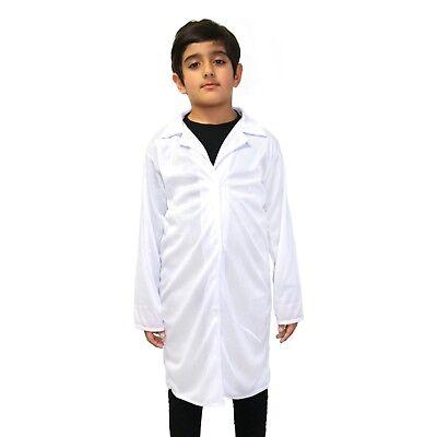 Kids White Scientist / Einstein / Doctor / Nurse / Fancy Dress Lab Coat Overalls](Einstein Costume Child)