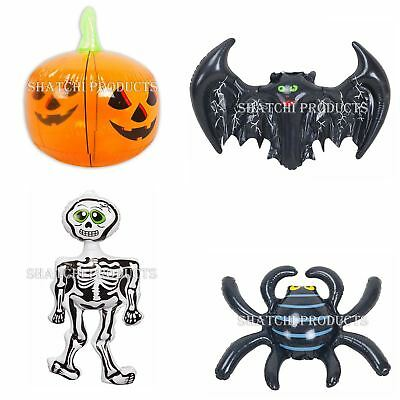 Halloween Inflatable Spider Bat Skeleton Pumpkin Blow Up Toys Party Decoration