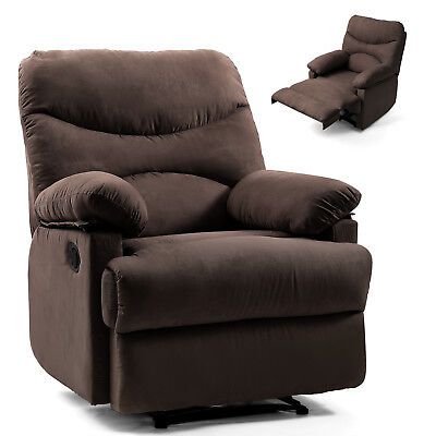 Chocolate Lazy Man Massage Recliner Chair Zero Gravity Full Body Heat W/ Control