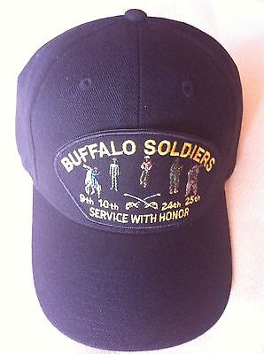 BUFFALO SOLDIERS SERVICE WITH HONOR Military Ball Cap
