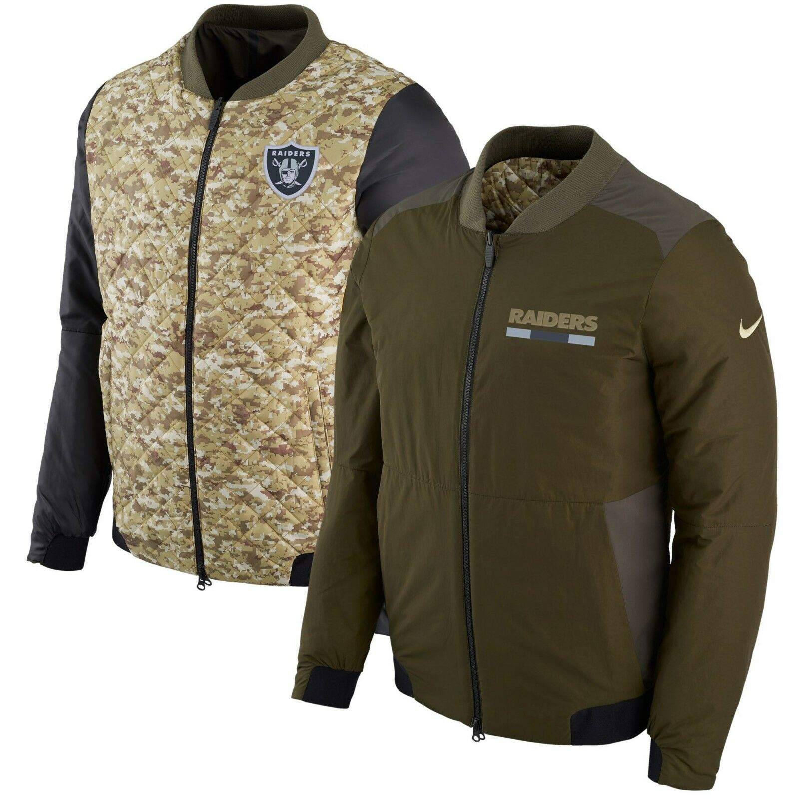 NIKE NFL Salute to Service 2017 Men's Reversible Bomber Jacket Limited STS New