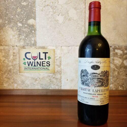 1978 Chateau Lapelletrie Bordeaux wine, Saint-Emilion Grand Cru