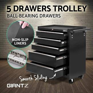 5 Drawers Mechanic Tool Box Storage Chest Cabinet Toolbox