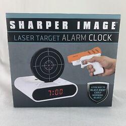 NIB Sharper Image Laser Target Alarm Clock BRAND NEW